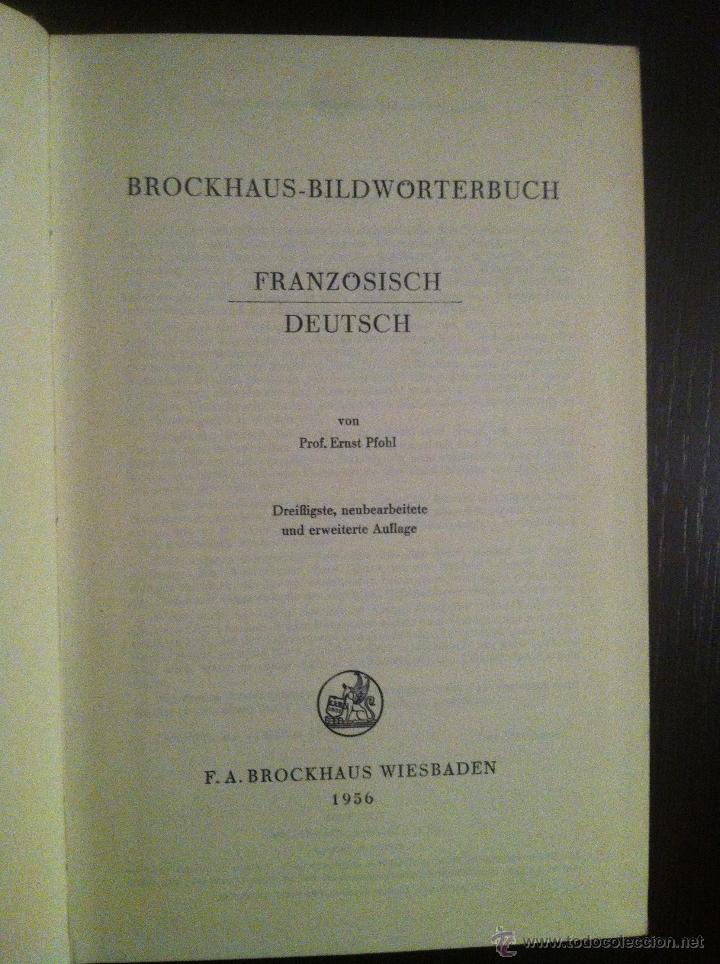 Diccionarios de segunda mano: Brockhaus Bild Wörterbuch. Französisch - Deutsch. 1956. In perfektem Zustand. - Foto 3 - 42231841