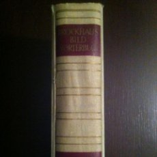 Diccionarios de segunda mano: BROCKHAUS BILD WÖRTERBUCH. ENGLISCH - DEUTSCH. 1953. GUTER ERHALTUNGSZUSTAND. Lote 42231865