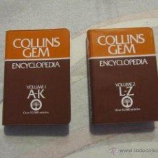 Diccionarios de segunda mano: M69 DICCIONARIOS COLLINS GEM ENCYCLOPEDIA EN DOS VOLUMENES AÑO 1979. Lote 42686835