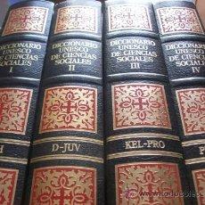 Diccionarios de segunda mano: DICCIONARIO UNESCO DE CIENCIAS SOCIALES (4 TOMOS). Lote 42843427