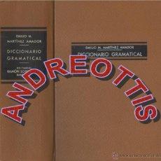 Diccionarios de segunda mano - DICCIONARIO GRAMATICAL, EMILIO M. MARTINEZ AMADOR, EDITORIAL RAMON SOPENA, 1961 - 42850238