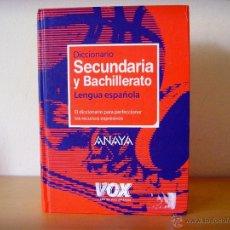 DICCIONARIO SECUNDARIA Y BACHILLERATO