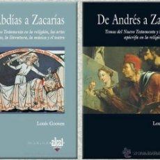 Diccionarios de segunda mano: DICCIONARIO DE PERSONAJES BÍBLICOS. 2 VOLÚMENES. LOUIS GOOSEN.. Lote 43625496