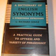 Diccionarios de segunda mano: DICTIONARY OF ENGLISH SYNONYMS. Lote 44018949