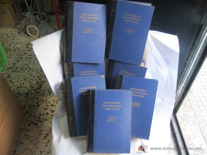 DICCIONARIO ENCICLOPEDICO ABREVIADO ESPASA 1955 (7 TOMOS) (Libros de Segunda Mano - Diccionarios)