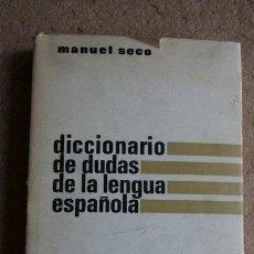 Diccionarios de segunda mano: DICCIONARIO DE DUDAS Y DIFICULTADES DE LA LENGUA ESPAÑOLA. SECO (MANUEL) MADRID, AGUILAR, 1964.. Lote 44139927