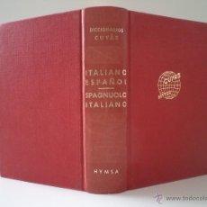 Diccionarios de segunda mano: DICCIONARIO ITALIANO-ESPAÑOL / DIZIONARIO SPAGNUOLO-ITALIANO. HYMSA, BARCELONA, 1974,. Lote 44217731