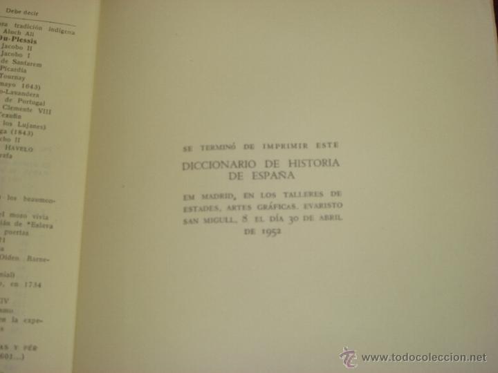 Diccionarios de segunda mano: DICCIONARIO DE HISTORIA DE ESPAÑA.Desde sus orígenes al fin del reinado de Alfonso XIII. 2 T.1952 - Foto 16 - 44384278