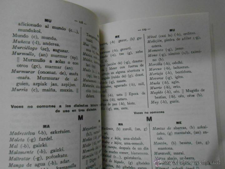 Diccionarios de segunda mano: DICCIONARIO VASCO-CASTELLANO Y CASTELLANO-VASCO DE VOCES COMUNES A DOS O MAS DIALECTOS. TDK201 - Foto 2 - 44698624