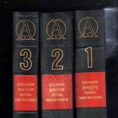 Diccionarios de segunda mano: DICCIONARIO BIOGRAFICO ESPAÑOL CONTEMPORANEO. 3 VOLUMENES. DE LA A - A LA Z. MADRID. 1970. Lote 45234208