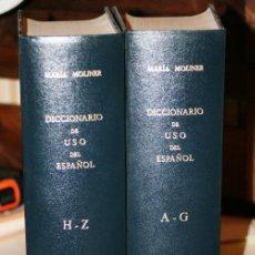 Diccionarios de segunda mano: DICCIONARIO DE USO DEL ESPAÑOL. DOS TOMOS. MOLINER, MARIA. EDITORIAL: EDITORIAL GREDOS. 1446+ 1585 P. Lote 45991661
