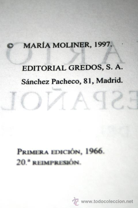 Diccionarios de segunda mano: DICCIONARIO DE USO DEL ESPAÑOL. DOS TOMOS. Moliner, Maria. Editorial: Editorial Gredos. 1446+ 1585 P - Foto 2 - 45991661