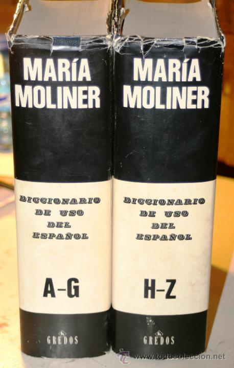 Diccionarios de segunda mano: DICCIONARIO DE USO DEL ESPAÑOL. DOS TOMOS. Moliner, Maria. Editorial: Editorial Gredos. 1446+ 1585 P - Foto 3 - 45991661