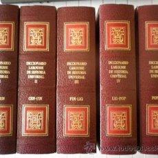 Diccionarios de segunda mano: DICCIONARIO LAROUSSE DE HISTORIA UNIVERSAL. 5 TOMOS. Lote 104920810