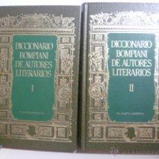 Diccionarios de segunda mano: DICCIONARIO BOMPIANI DE AUTORES LITERARIOS-2 VOL. Lote 45998535