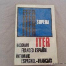 Diccionarios de segunda mano: DICCIONARIO FRANCÉS ESPAÑOL. Lote 45998612