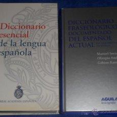 Diccionarios de segunda mano: DICCIONARIO DE LA REAL ACADEMIA - DICCIONARIO FRASEOLÓGICO DOCUMENTADO DEL ESPAÑOL ACTUAL - AGUILAR. Lote 46089546