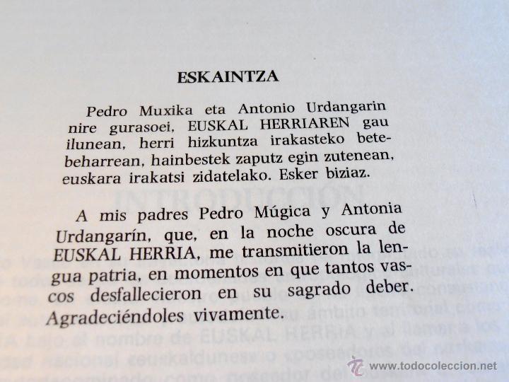 Diccionarios de segunda mano: DICCIONARIO GENERAL Y TECNICO, 1 DE CASTELLANO, EUSKARA, LUIS Mª MUGICA - Foto 5 - 46196034