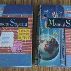 Diccionarios de segunda mano - 2 tomos - completa - MANUAL SOPENA- Diccionario enciclopédico ilustrado - Año 1956 - 46793506