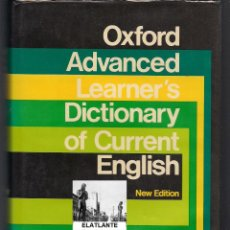 Diccionarios de segunda mano: OXFORD ADVANCED LEARNER´S DICTIONARY OF CURRENT ENGLISH - A S HORNBY - NEW EDITION. Lote 178985136