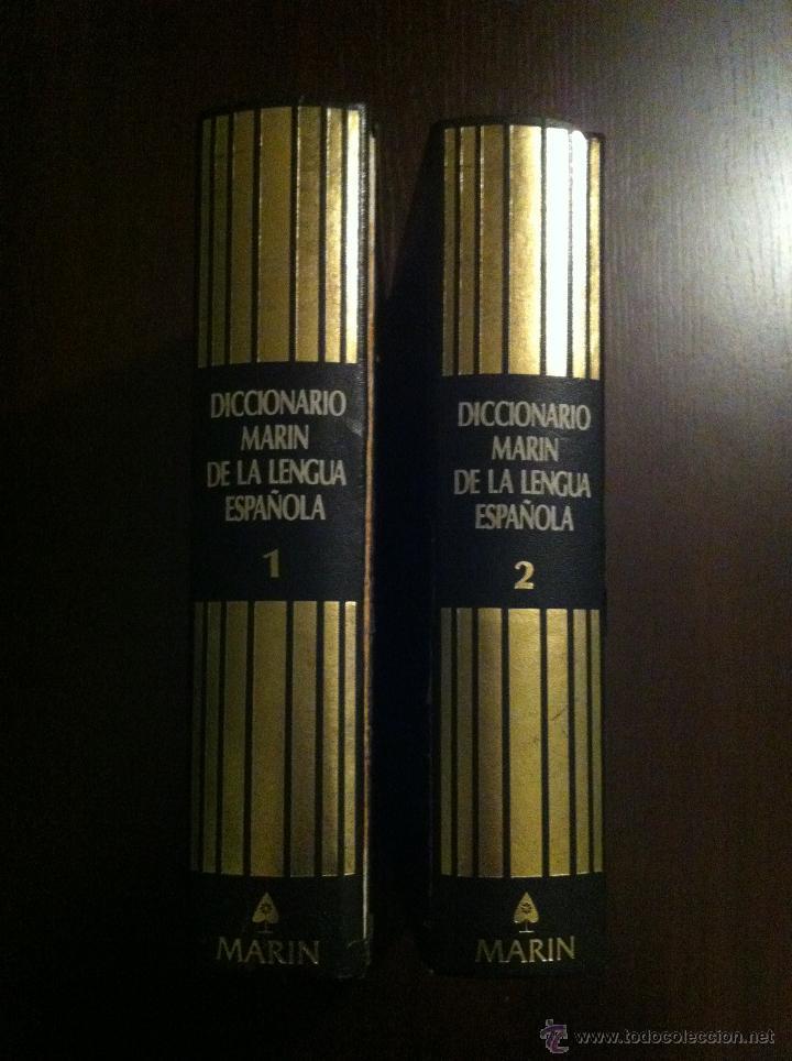 DICCIONARIO MARIN DE LA LENGUA ESPAÑOLA - TOMOS 1 Y 2 - BARCELONA - 1982 - (Libros de Segunda Mano - Diccionarios)