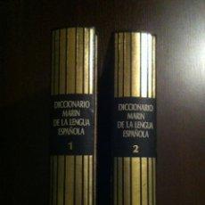 Diccionarios de segunda mano: DICCIONARIO MARIN DE LA LENGUA ESPAÑOLA - TOMOS 1 Y 2 - BARCELONA - 1982 -. Lote 46993877