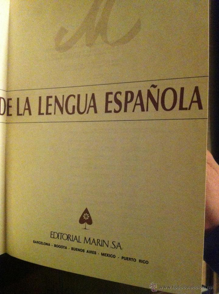 Diccionarios de segunda mano: DICCIONARIO MARIN DE LA LENGUA ESPAÑOLA - TOMOS 1 Y 2 - BARCELONA - 1982 - - Foto 3 - 46993877