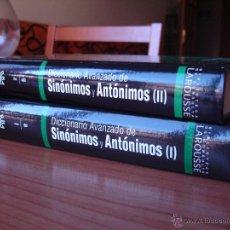 Diccionarios de segunda mano: DICCIONARIO AVANZADO DE SINÓNIMOS Y ANTÓNIMOS - DOS TOMOS (ED. RBA - LAROUSSE). Lote 47104699