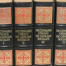 Diccionarios de segunda mano: DICCIONARIO UNESCO DE CIENCIAS SOCIALES - 4 TOMOS EN FORMATO 25 CM. Lote 47158066