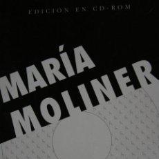 Diccionarios de segunda mano: DICCIONARIO DEL USO DEL ESPAÑOL MARÍA MOLINER PRIMERA EDICION EN CD ROM GREDOS. Lote 47533107