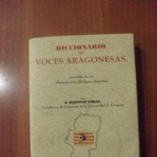 Diccionarios de segunda mano: DICCIONARIO DE VOCES ARAGONESAS, FACSIMIL, GERONIMO BORAO. Lote 47580819