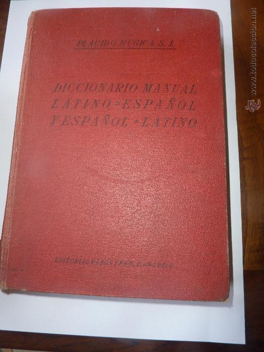 LIBRO Nº 116 - DICCIONARIO MANUAL / LATINO ESPAÑOL / ESPAÑOL L ATINO (Libros de Segunda Mano - Diccionarios)