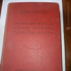 Diccionarios de segunda mano: LIBRO Nº 116 - DICCIONARIO MANUAL / LATINO ESPAÑOL / ESPAÑOL L ATINO. Lote 47596782