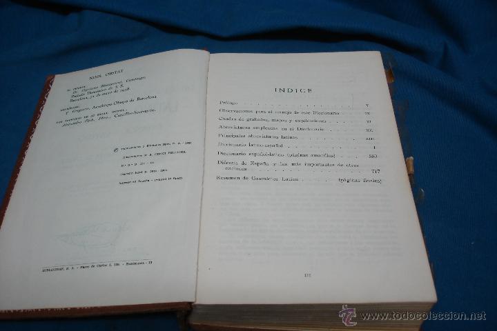 Diccionarios de segunda mano: DICCIONARIO ILUSTRADO LATINO-ESPAÑOL, ESPAÑOL-LATINO - SPES 1984 - Foto 4 - 48504813
