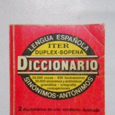 Diccionarios de segunda mano - DICCIONARIO ITER LENGUA ESPAÑOLA DUPLEX SOPENA. 1986. TDK233 - 48864256