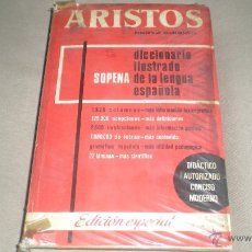 Diccionarios de segunda mano: ARISTOS SOPENA . DICCIONARIO ILUSTRADO DE LA LENGUA ESPAÑOLA . Lote 49042170