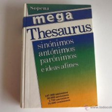Diccionarios de segunda mano: MEGA THESAURUS, SINÓNIMOS, ANTÓNIMOS, PARÓNIMOS. Lote 107801638