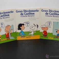 Diccionarios de segunda mano: GRAN DICCIONARIO DE CARLITOS CHARLIE BROWN ESPAÑOL INGLES 1984 RE PFS. Lote 49327026