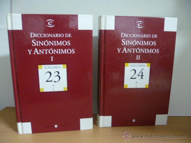 DICCIONARIO DE SINÓNIMOS Y AUTONIMOS 2 TOMOS, 2004 (Libros de Segunda Mano - Diccionarios)