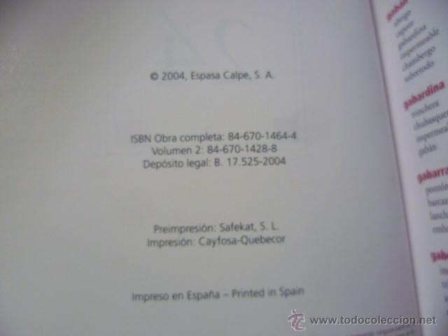 Diccionarios de segunda mano: DICCIONARIO DE SINÓNIMOS Y AUTONIMOS 2 tomos, 2004 - Foto 3 - 49376922
