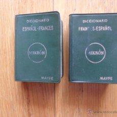 Diccionarios de segunda mano: DICCIONARIO FRANCES ESPAÑOL, ESPAÑOL FRANCES MAYFE, MIKRON, 1973. Lote 49424179