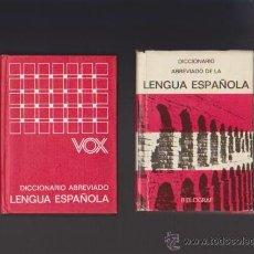 Diccionarios de segunda mano: LENGUA ESPAÑOLA - DICCIONARIO ABREVIADO - BIBLOGRAF EDITORIAL 1973. Lote 49852989