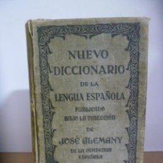 Diccionarios de segunda mano: NUEVO DICCIONARIO DE LA LENGUA ESPAÑOLA - JOSE ALEMANY - 1937 - EDIT.RAMON SOPENA. Lote 49857394