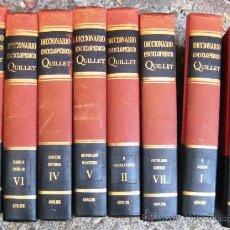 Diccionarios de segunda mano: DICCIONARIO ENCICLOPEDICO QUILLET. 8 TOMOS 1968 . ENVIO CERTIFICADO INCLUIDO.. Lote 50188576