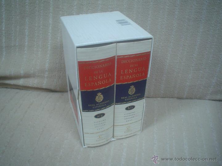 DICCIONARIO DE LA LENGUA ESPAÑOLA, ED. ESPASA 2 TOMOS VIGÉSIMA SEGUNDA EDICIÓN. 2001 (Libros de Segunda Mano - Diccionarios)