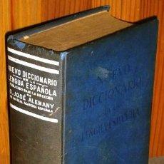 Diccionarios de segunda mano: NUEVO DICCIONARIO DE LA LENGUA ESPAÑOLA POR JOSÉ ALEMANY BOLUFER, ED. RAMÓN SOPENA EN BARCELONA 1957. Lote 50533806
