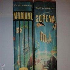 Diccionarios de segunda mano: MANUAL SOPENA DICCIONARIO ENCICLOPÉDICO ILUSTRADO TOMO I Y II 1963 RAMÓN SOPENA 1º EDICIÓN. Lote 50609704