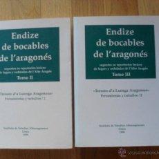 Diccionarios de segunda mano - ENDIZE DE BOCABLES DE L ARAGONES, 2 Tomos - 50795928