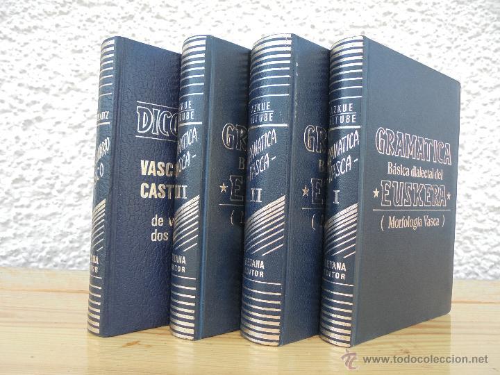 Diccionarios de segunda mano: GRAMATICA BASICA DIALECTAL DEL EUSKERA-MORFOLOGIA VASCA. AZKUE ALTUBE. DICCIONARIO VASCO. ARBELAITZ. - Foto 2 - 51019096