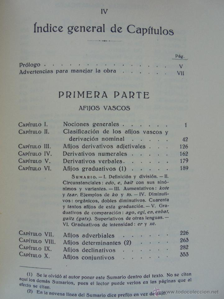 Diccionarios de segunda mano: GRAMATICA BASICA DIALECTAL DEL EUSKERA-MORFOLOGIA VASCA. AZKUE ALTUBE. DICCIONARIO VASCO. ARBELAITZ. - Foto 32 - 51019096